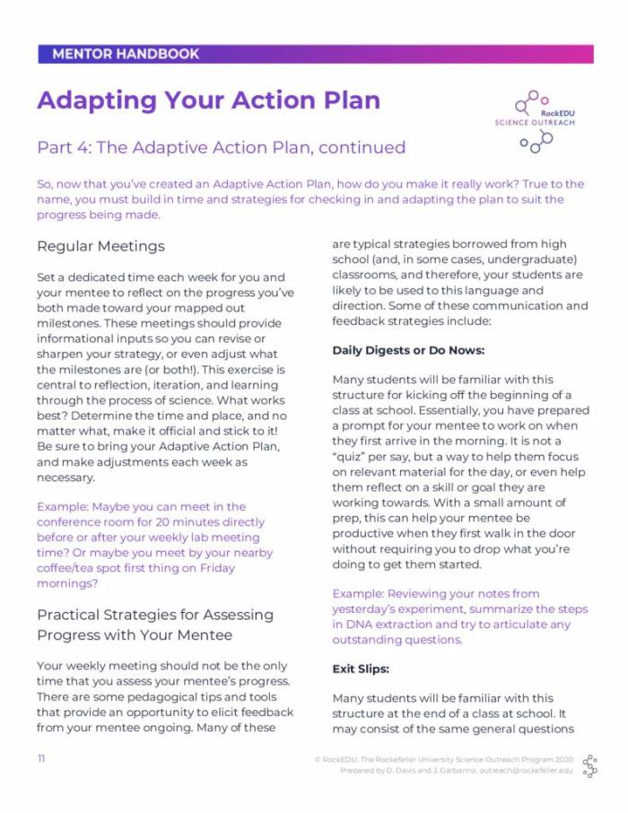 Part 4 Adapting Your Action Plan